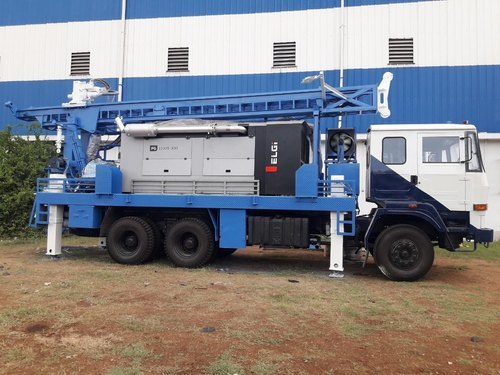 Compressor Borewell Drilling Rig