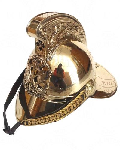 Brass Fireman Armour Helmet