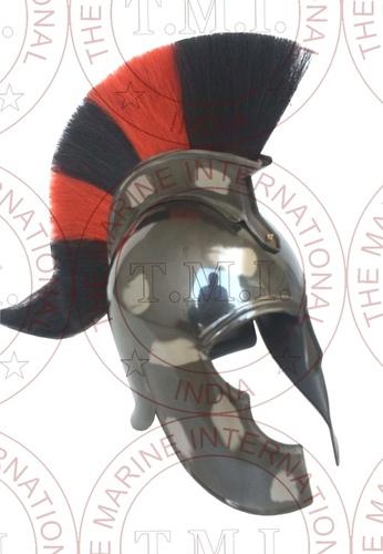 Movie Troy - Achillis Helmet With Black & White Plume