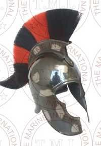 Movie Troy - Achillis Helmet With Black & White Plume