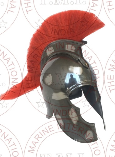 Troy Spartan Helmet With Red Plume