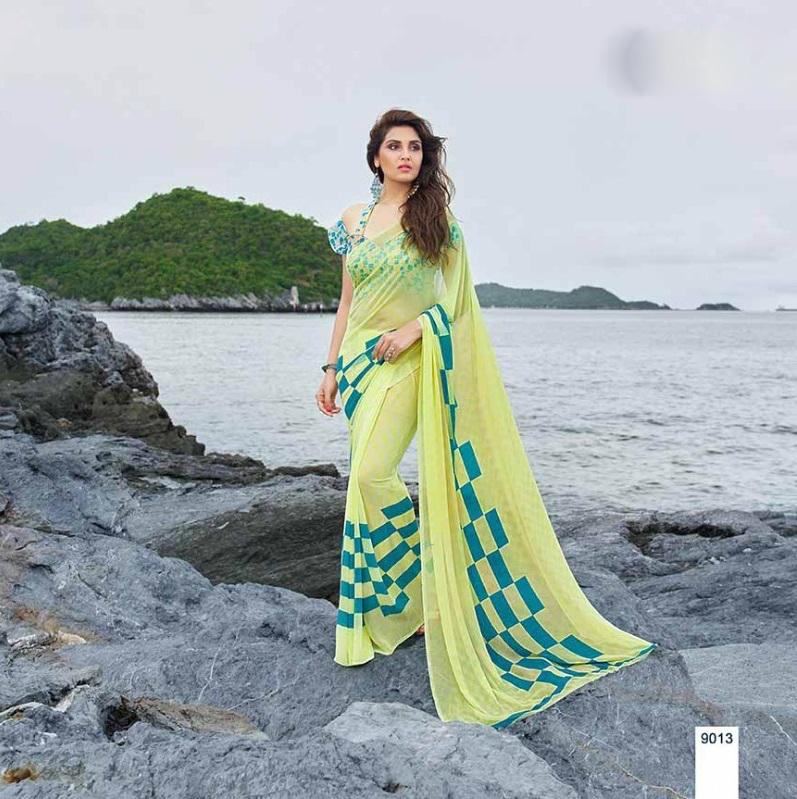 Printed Georgette Sarees India