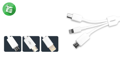 Hoteon 3-in-1 data cable with C type
