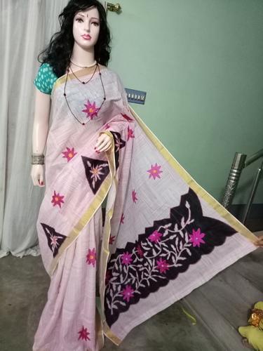 Cotton Saree with applique work