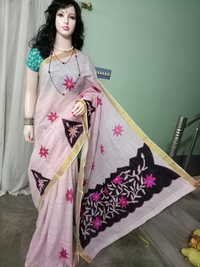 Cotton Saree with applique work