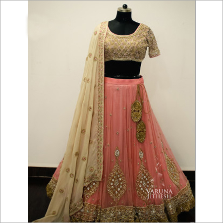 Light Peach Lehenga