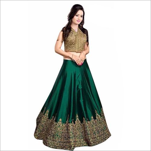Banglori Silk Green Designer Lehenga