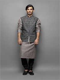 Designer Jacket Kurta Pajama