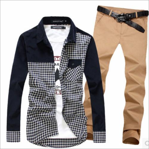 Khaki Pant Shirt For Men