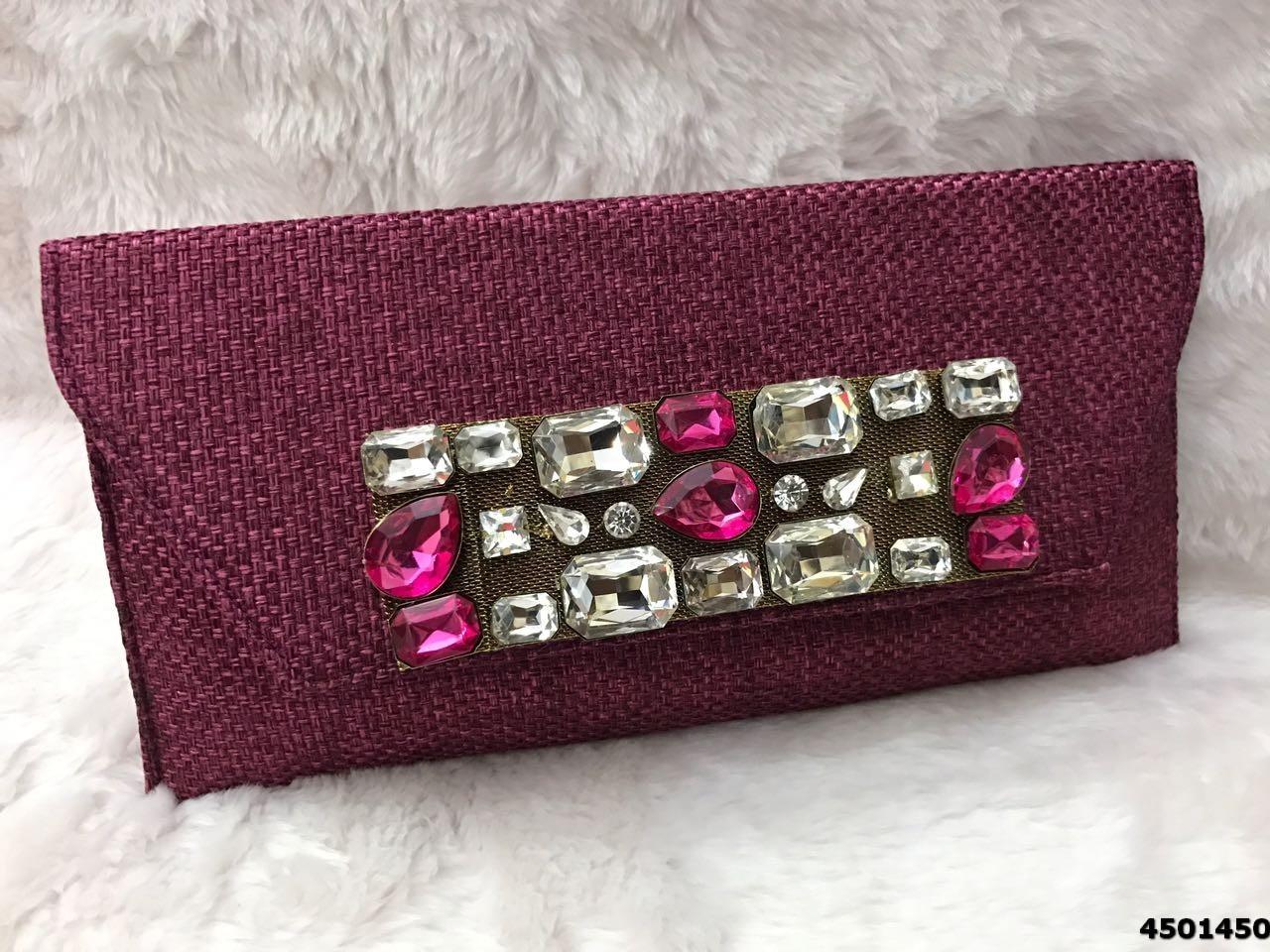 Designer Jute Clutch Bag