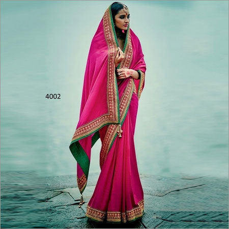 Rani Two Tone Silk Beautiful Stanning Saree