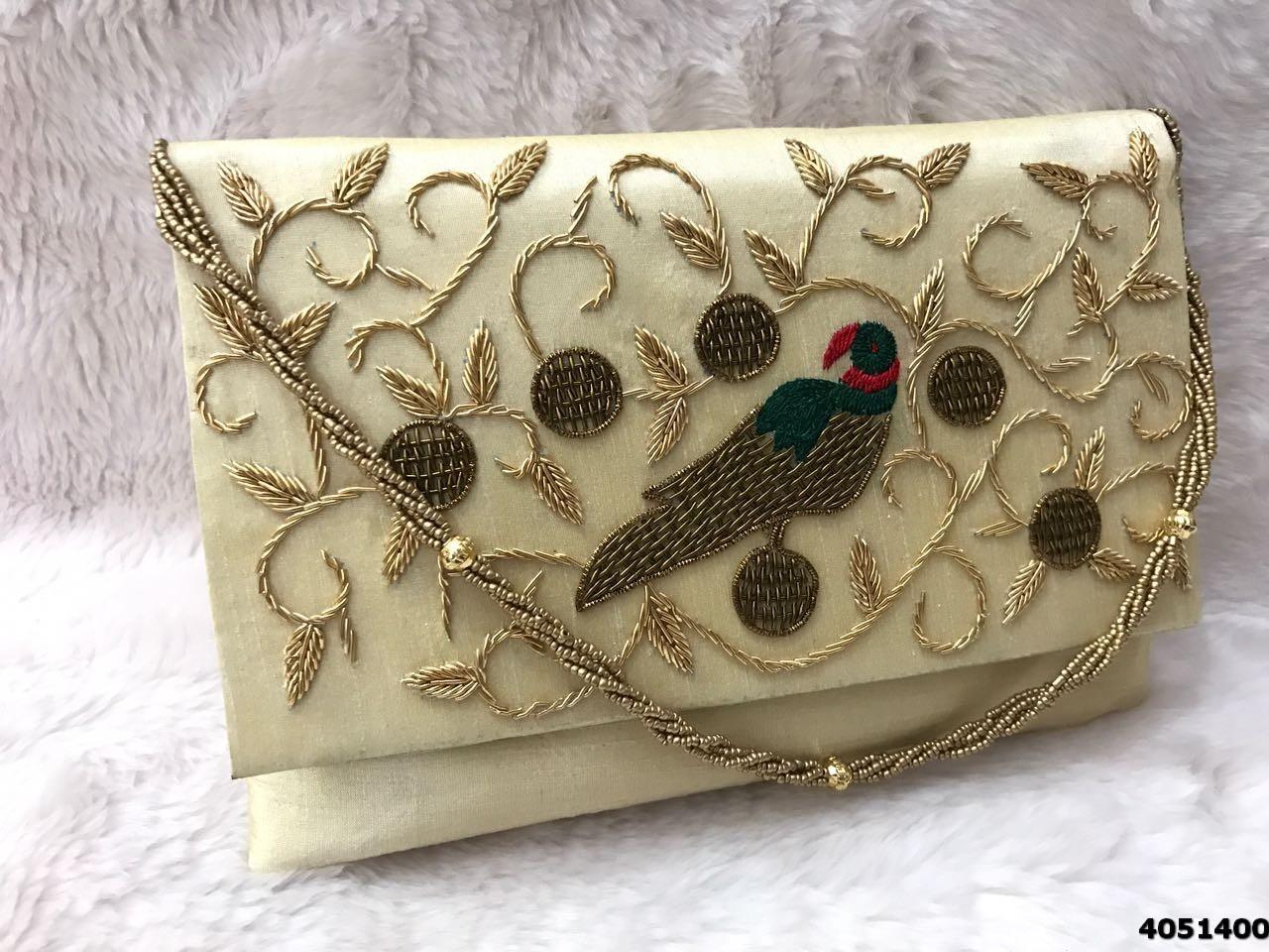 Sensational Embroidered Clutch Bag