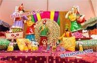 Aaja Nachle Fiber Punjabi Culture Statue