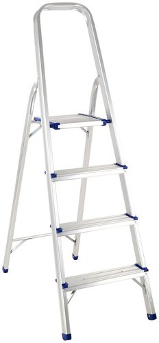 4 STEP PLATFORM ALUMINIUM LADDER
