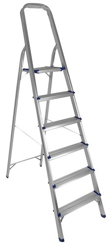 6 STEP PLATFORM ALUMINIUM LADDER