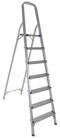 7 STEP PLATFORM ALUMINIUM LADDER