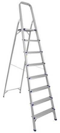 8 STEP PLATFORM ALUMINIUM LADDER
