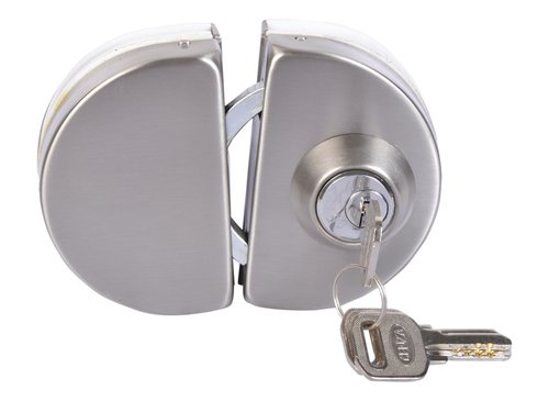GLASS DOOR LOCK ROUND DOUBLE DOOR