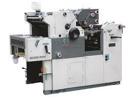 Two color satellite printing machine