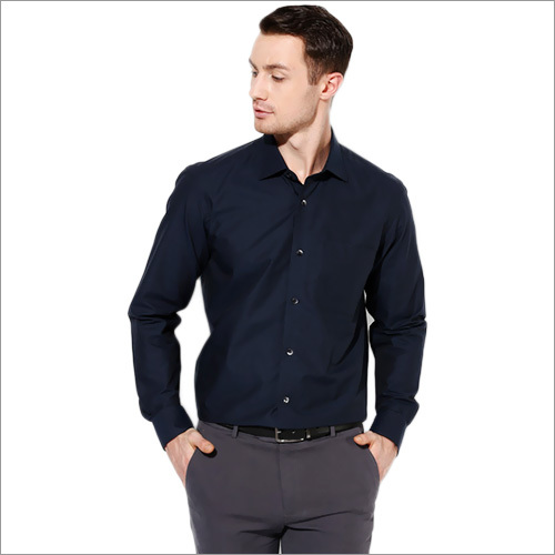 Louis Philippe Blue Regular Fit Shirts