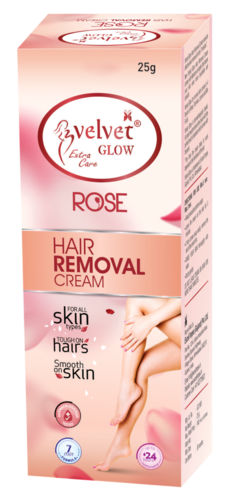 Velvet Glow  Hair Removal Cream(Rose)
