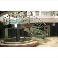 Stainless Steel & Glass Stairs