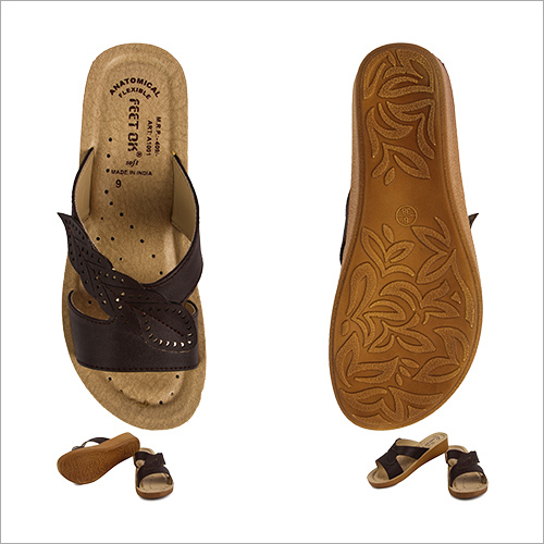 Classy Cut Work  Ladies brown Footwear