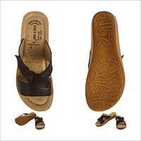 Classy Cut Work  Ladies brown Footwear