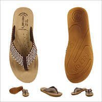 Fancy Brown Stripped Slipper