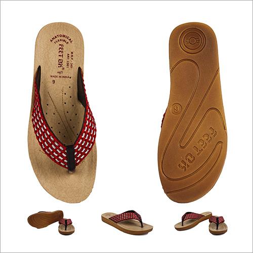 Fancy Red Stripped Slipper