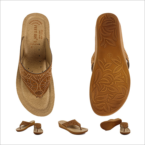 Ladies Copper Colored Slipper