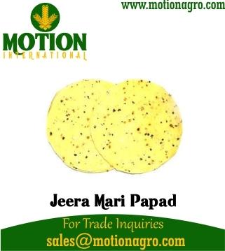 JEERA MARI PAPAD