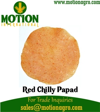 RED CHILLY GARLIC PAPAD