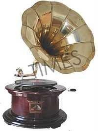 Antique Round Gramophone