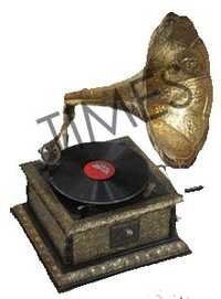 Antique  Wooden Gramophone