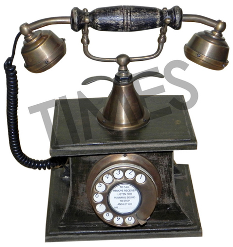 Antique Wooden Rotary Telephone