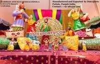 Punjabi Sikh Wedding Stage Decor Set