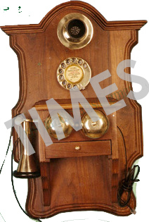 Antique  Wooden Wall Hanging Telephone
