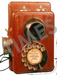 Antique Wooden Wall Mounted Telephone