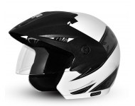 Cruiser Arrows W/P White Base With Silver Graphic Helmet