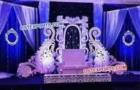 Latest Wedding Stage Paisley Panel Back Wall