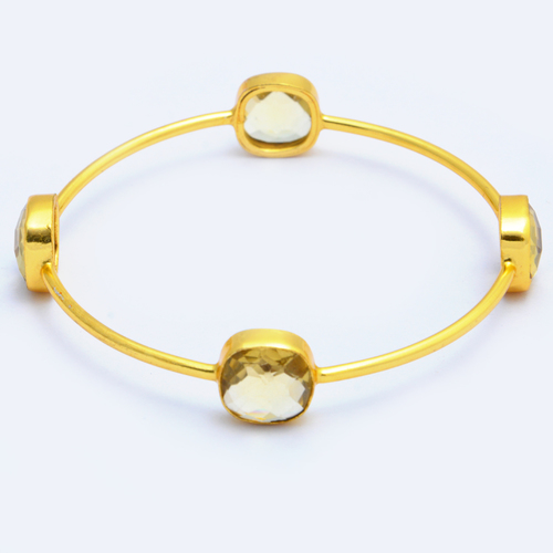 Gold Plated Gemstone Bracelet