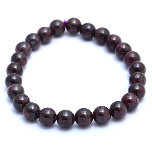 Garnet Stretchable Beaded Bracelet