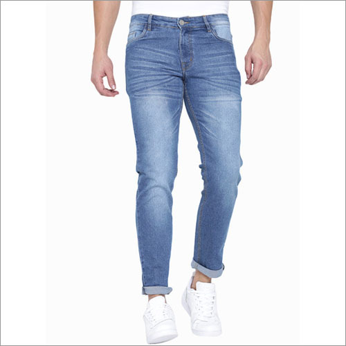 Hubberholme Blue Washed Slim Fit Jeans