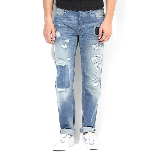 Jack Jones Blue Mid Rise Slim Fit Jeans