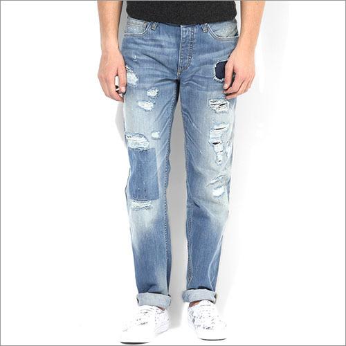 Jack Jones Blue Mid Rise Slim Fit Jeans