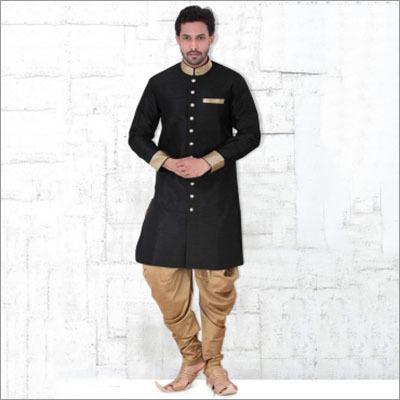 Black Readymade Designer Indian Kurta Pajama