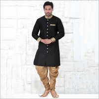 Black Readymade Designer Indian Kurta Pajama