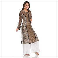 Ethnic Chikan Embroidery Indian Style Kurti