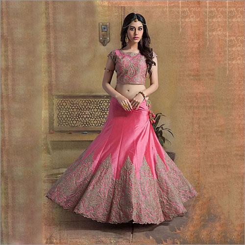 Pink Color Art Silk Lehenga Choli